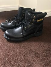 CATERPILLAR Leather Boots (Black)  Size 🇬🇧 8EU 42  Brand New