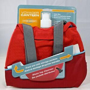 Kurgo Voyager Canteen (32oz) Shoulder Strap w/Pockets Waste bag Dispenser (Pets)