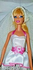 Barbie Royal Bride WEDDING GOWN With Blonde Barbie Doll and Veil