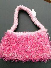 Original Banana Art Handmade Pink Knitted Purse, Small, Artist, Ann Piazza