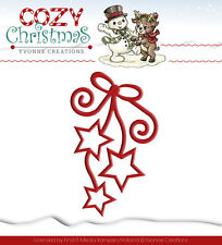YVONNE CREATIONS ~ COZY CHRISTMAS ~ HANGING STARS ~ STERNE ~ STANZSCHABLONE