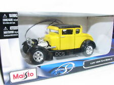 Maisto 1929 FORD MODEL A Yellow 1/24 In Box Diecast car 31201yl