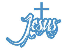 Jesus - Blue Cut (Bumper Sticker)