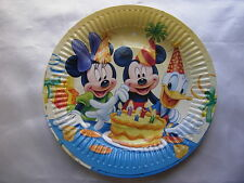 10 Birthday Party Plates Tableware, Mickey Mouse Y