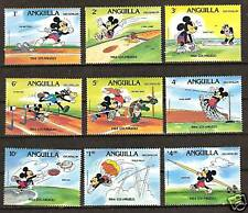 ANGUILLA DISNEY #559-567 SUMMER OLYMPICS, LOS ANGELES, 1984