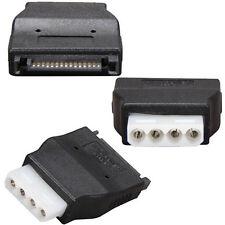 3x SATA 15Pin Male to Molex 4Pin PC IDE Female Power Adapter Converter Connector