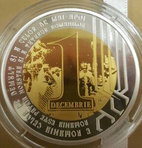 Romania GREAT UNION grand SILVER coin Romanian MEDAL 1918 2018 Transylvania 200