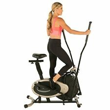 Elliptical and Exercise Bike Trainer with Reinforced Crank System Up to 250 lbs