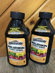 Lot Of 2 Spectracide Malathion Insect Spray Concentrated 16oz New