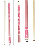 Champion Pink Pool Cue Stick with Low DeflectionShaft,Adjusted weight,Pool Glove