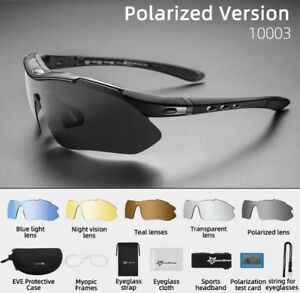 ROCKBROS Pro Polarized Cycling Glasses Bike MTB Sport Sunglasses 5 Lens Goggles