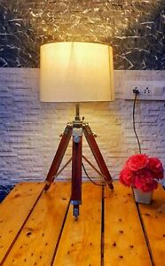 Christmas nautical table lamp light with wooden tripod stand for home decorative