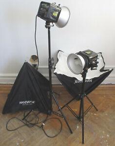 Alien Bees B800 Flash Neewer Softbox Umbrella W803 Tripod Photography Equipment