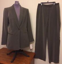 Jones New York Sz 8 2 Piece Gray Pants Suit Blazer Office Career NWT $280