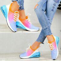 Neu Plateau Sneaker Turnschuhe Lack Damen Schuhe Stiefeletten Sport Wedges