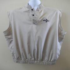 Footjoy Men's Beige Golf Windshirt Vest - Size M