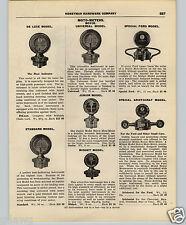 1927 PAPER AD Moto Meter Boyce Ford Model Midget Deluxe Aristocrat Tacoma Clock