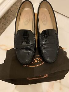 Tods Black Patent Size 39.5