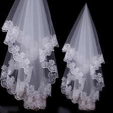 Wedding Veils Dropveils Appliques Lace Edege Bridal Accessories Bride Headbands