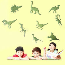 9Pc Glow in the Dark Night Dinosaurs Stickers Home Wall Bedroom Decals Decor