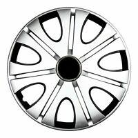 Premium Radkappen für 15 zoll Stahlfelgen schwarz silber für VW Passat  82dp