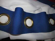galon ruflette bleu nuit avec œillets dorés pour rideaux tête de lit  au mètre