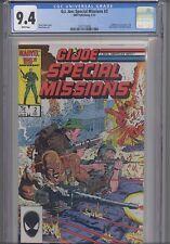 G.I. Joe Special Missions #2 CGC 9.4 1985 Marvel Comic: NEW CGC FRAME