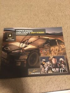 Ryan Newman Signed Autographed 8x10 Army Racing Photo NASCAR