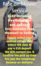 More details for deposit for a ride on mower service by mowtastic in harrietsham me17 1ja