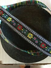 """5 Yards  OF WONDERFUL 7/8"""" FLORAL JACQUARD RIBBON TRIM AWESOME DESIGN AND COLORS"""