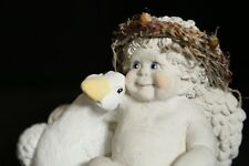 Dreamsicles Cherub Angel with White Duck Goose Figure 1991