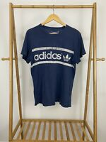 Adidas Men's Trefoil Spellout Sunfaded Thrashed Distressed T-Shirt Size M
