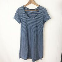 Universal Thread Womens XS T Shirt Dress Blue White Stripe Scoop Cotton