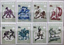 RWANDA RUANDA 1976 799-06 738-45 Olympics Montreal Hockey Soccer Boxing MNH