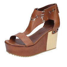 scarpe donna VIC 40 EU sandali marrone pelle BZ552-F