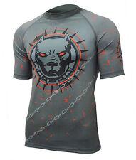 Koszulka Rashguard Pitbull Agressive Dog Compressive Thermoactive Short MMA S
