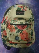 JanSport Right Pack Expressions Laptop Backpack Matte Coated Rose flowers