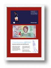 FRAMED LIMITED EDITION GEORGE BEST LEGAL TENDER BANKNOTE £5 POUND FIVER
