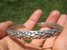 Hand Made 950 to 999 fine silver Karen hill tribe bangle bracelet Thailand A113