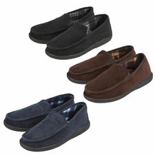 Mens Mule Closed Back Slippers Pull On Moccasin Corduroy Memory Foam Indoor 7-12