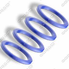 4 WHEEL RIM SPACER SPIGOT RINGS FOR ALUMINIUM RIMS BLUE - Ø 72.2 mm - Ø 57.1 mm