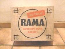 RAMA Karton Margarine Küche Großpackung alt vintage historisch Reklame Werbung