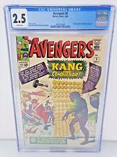 Avengers #8 CGC 2.5 WP 1964 1st Kang Jack Kirby Silver Age Marvel Disney+