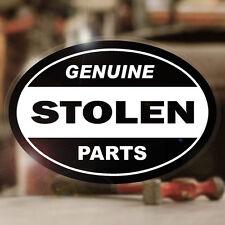 Genuine stolen parts autocollant sticker hot rod Conseil autocollante old school BLACK