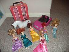 Barbie and Disney dolls + car + wardrobe + horse bundle FREE POSTAGE!!!