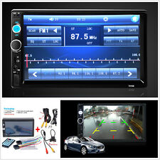 "2 DIN 7"" Car Radio Bluetooth Car Stereo HD Touch Screen MP5 Player SD MMC USB FM"