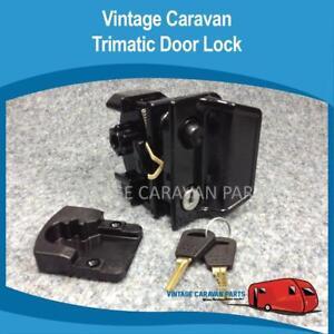 Caravan DOOR LOCK TRIMATIC  Vintage ( GENUINE ) Old Style Complete  D0120
