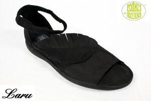 Sandale Natural, Blatt, Loints of Holland, Lagenlook, schwarz
