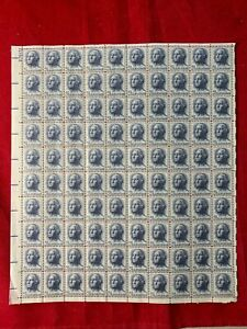 George Washington (100) 5 Cent Full Sheet Stamps ~ Scott #1213 with problem