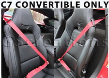 C7 Corvette RED Seat Belts for Stingray, Z06, Grand Sport :: CONVERTIBLE ONLY ::